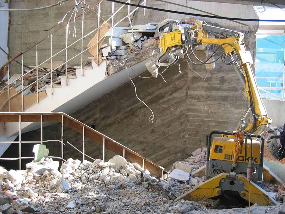 Brokk Demolition Warrington, Cheshire, UK | Barton Drilling Ltd