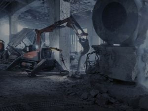 Barton Drilling demolition project